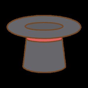 シルクハットのフリーイラスト Clip art od top-hat
