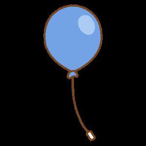 青い風船のフリーイラスト Clip art of blue balloon