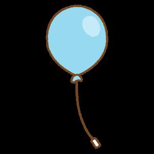 水色の風船のフリーイラスト Clip art of light-blue balloon