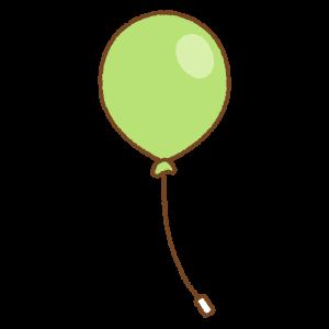 黄緑の風船のフリーイラスト Clip art of light-green balloon