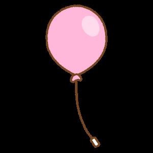 ピンクの風船のフリーイラスト Clip art of pink balloon