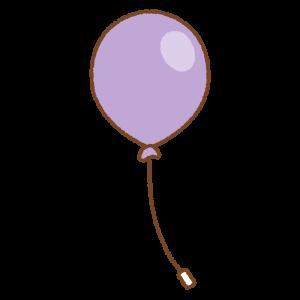 紫の風船のフリーイラスト Clip art of purple balloon