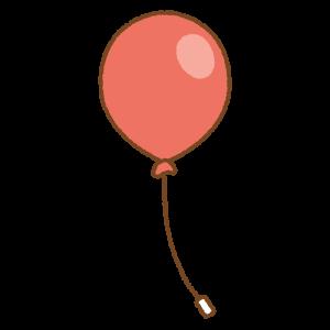 赤い風船のフリーイラスト Clip art of red balloon