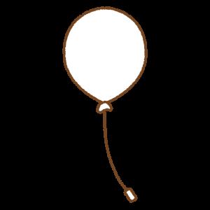白い風船のフリーイラスト Clip art of white balloon