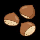 クリのフリーイラスト Clip art of chestnut