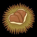 イガグリのフリーイラスト Clip art of chestnuts-in-burrs