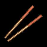 箸のフリーイラスト Clip art of chopsticks