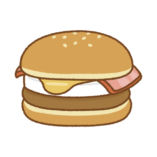 お月見ハンバーガーのイラスト