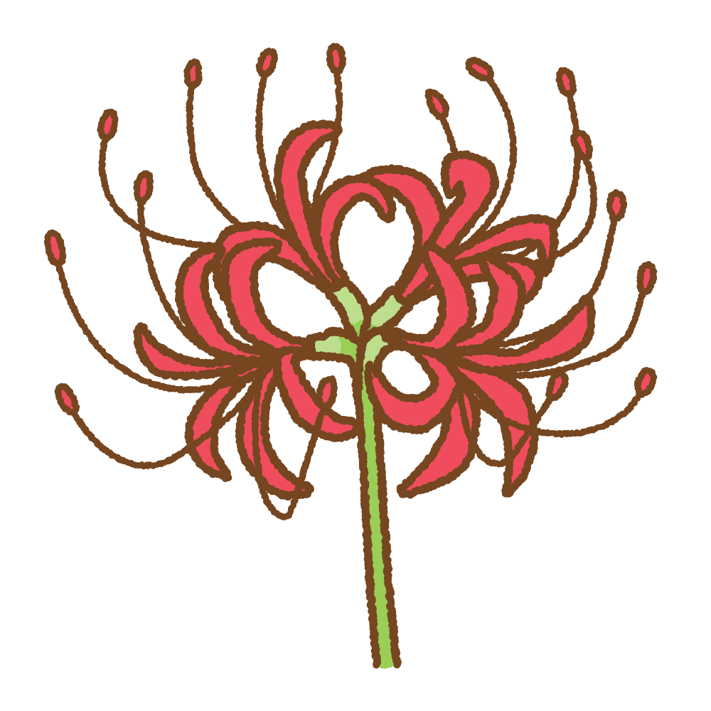 彼岸花のフリーイラスト Clip art of higanbana