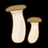 エリンギのフリーイラスト Clip art of king-trumpet-mushroom