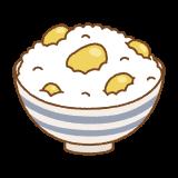 栗ご飯のフリーイラスト Clip art of kuri-gohan