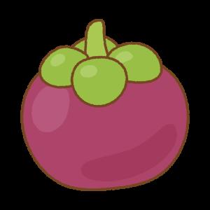 マンゴスチンのフリーイラスト Clip art of mangosteen