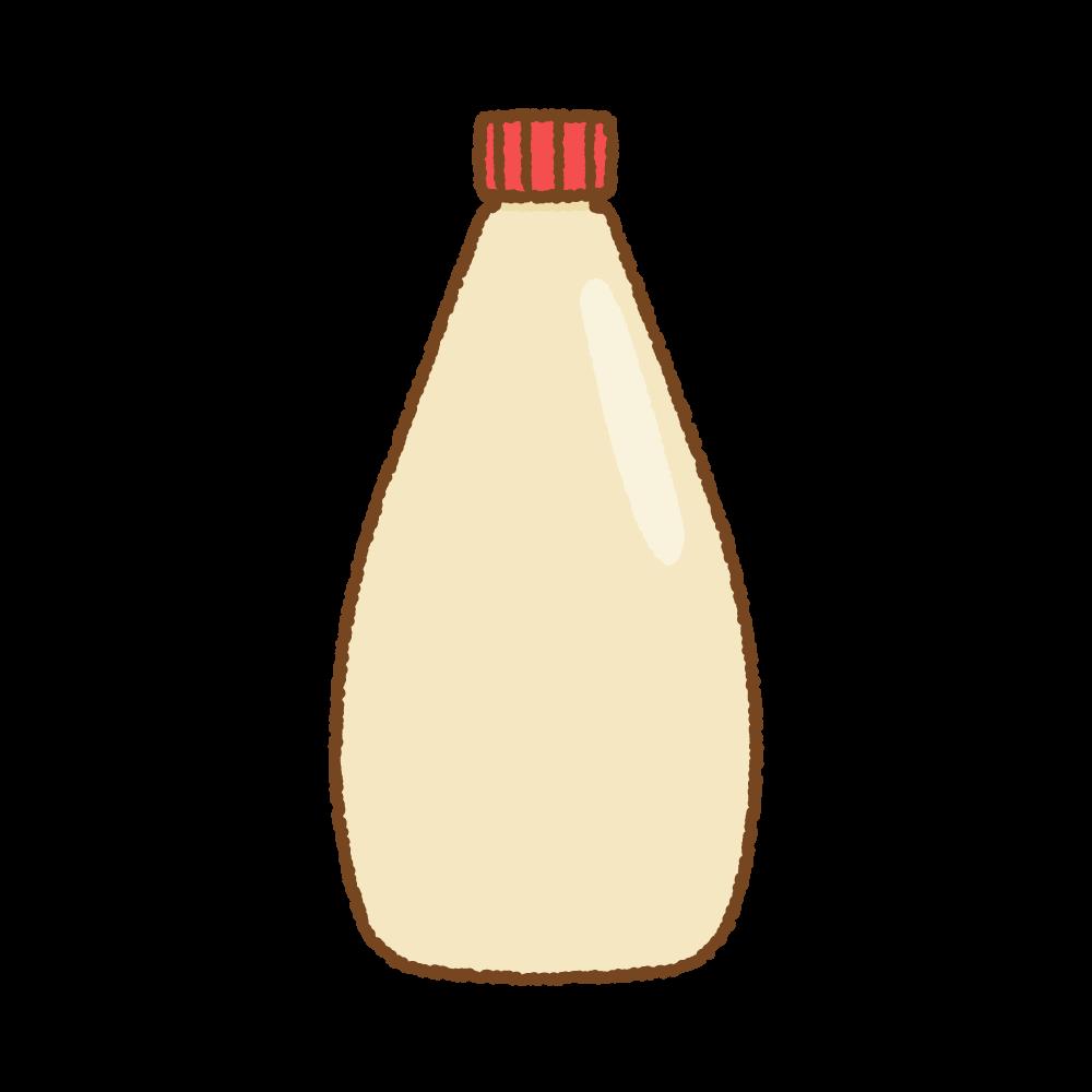 マヨネーズのフリーイラスト Clip art of mayonnaise