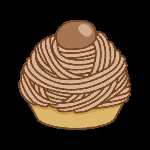 モンブランのフリーイラスト Clip art of mont-blanc cakes