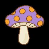 毒キノコのフリーイラスト Clip art of poisonous mushroom