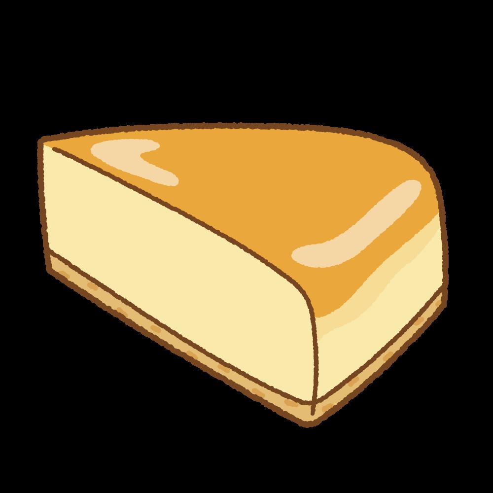 ベイクドチーズケーキのフリーイラスト Clip art of baked-cheesecake