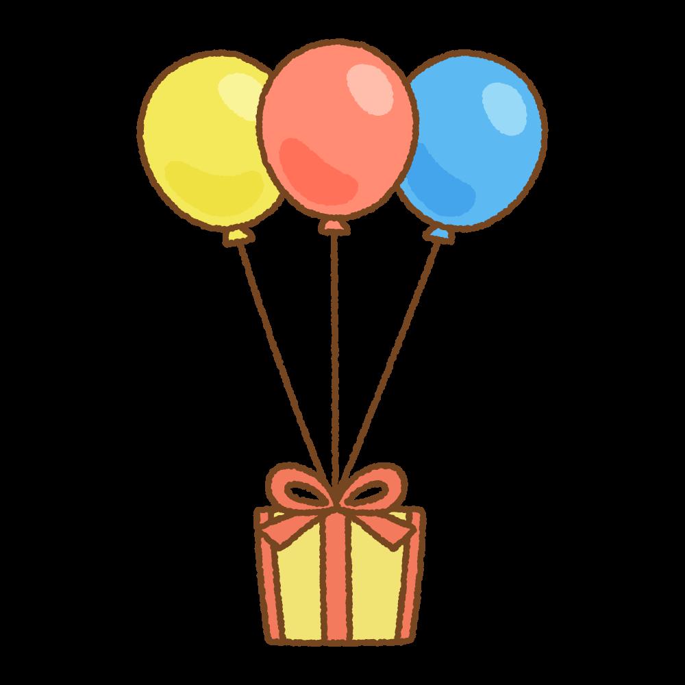 バルーンギフトのフリーイラスト Clip art of balloon-gift