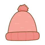 ニット帽のフリーイラスト Clip art of beanie