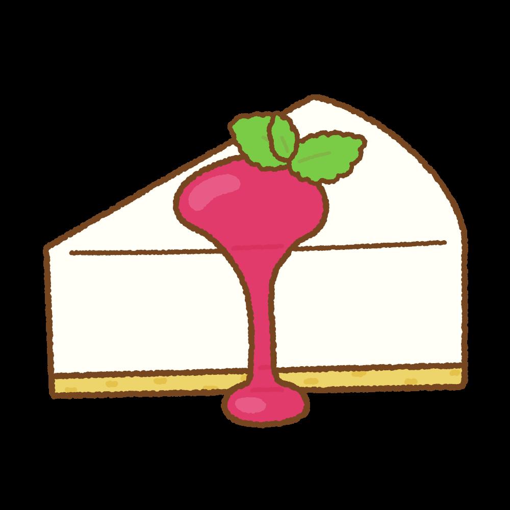 レアチーズケーキのフリーイラスト Clip art of cheesecake