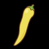 黄トウガラシのフリーイラスト Clip art of yellow chili-pepper