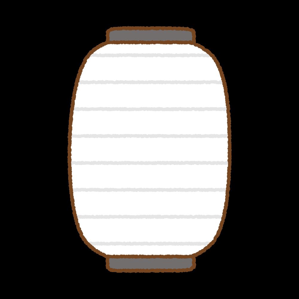 提灯のフリーイラスト Clip art of chouchin