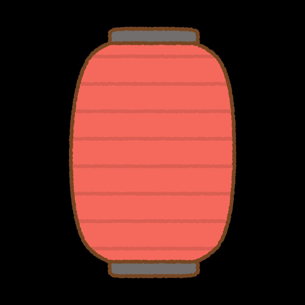 赤提灯のフリーイラスト Clip art of aka-chouchin