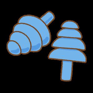 耳栓のフリーイラスト Clip art of earplug