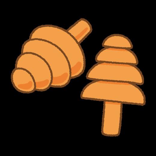 耳栓のイラスト