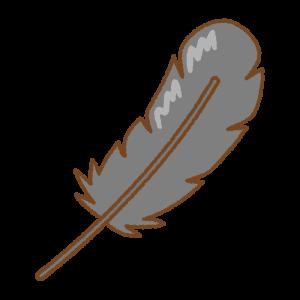 黒い羽根のフリーイラスト Clip art of black feather