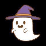 ハロウィンおばけのフリーイラスト Clip art of halloween ghost