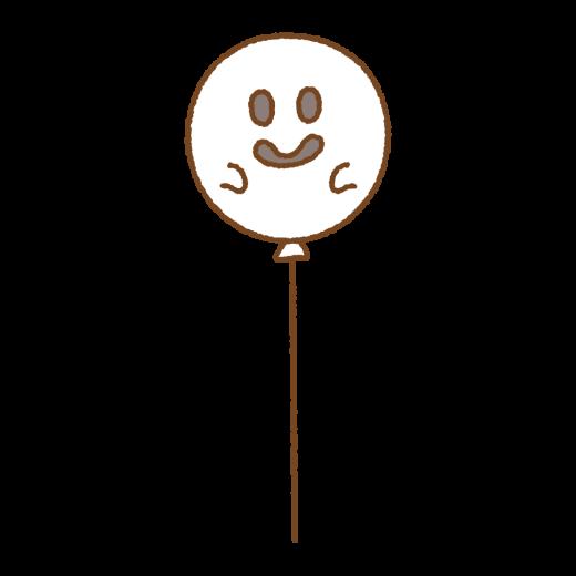 おばけの風船のイラスト
