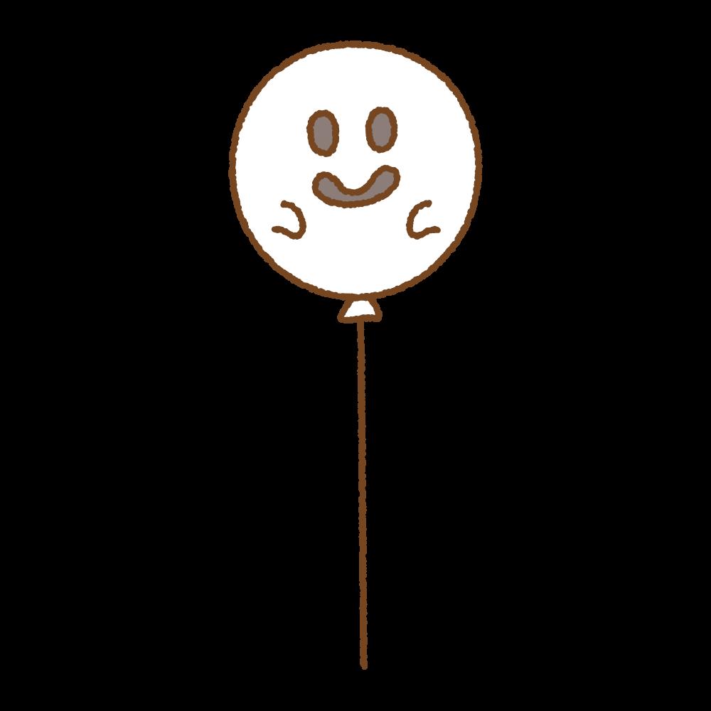 ハロウィンバルーンのフリーイラスト Clip art of halloween-ballon
