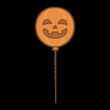 ハロウィンかぼちゃの風船のイラスト