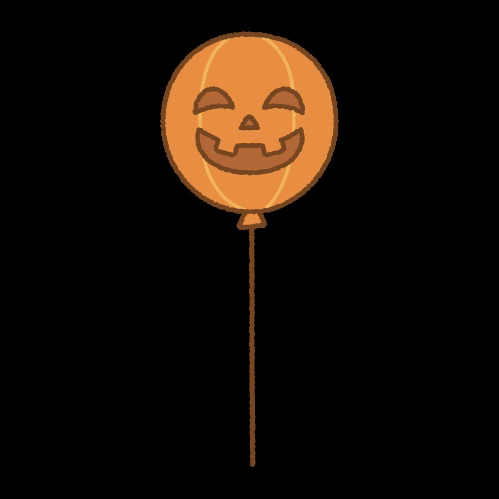 ハロウィンバルーンのフリーイラスト Clip art of halloween-balloon-pumpkin