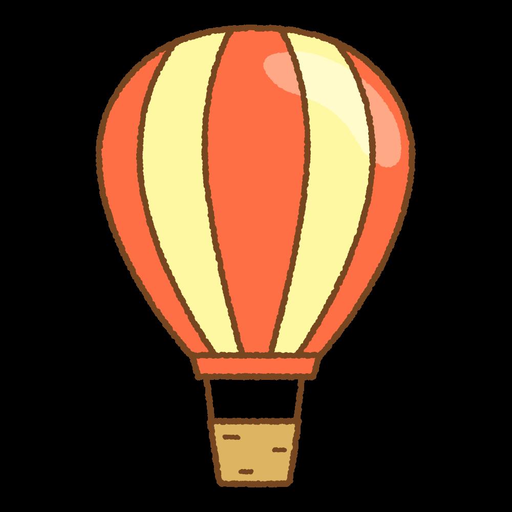 気球のフリーイラスト Clip art of hot air balloon