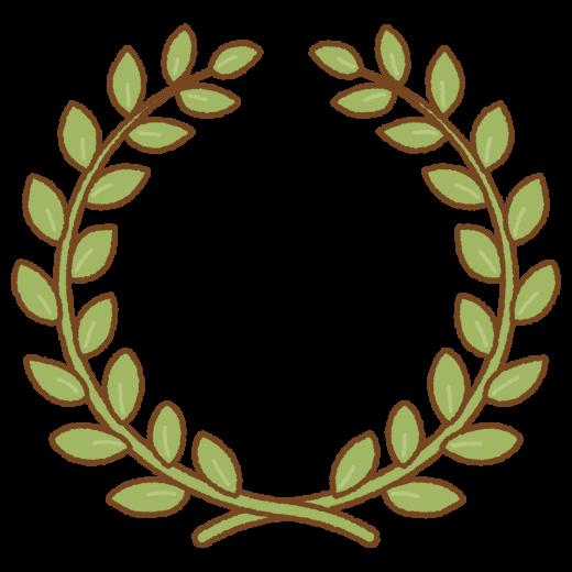 月桂樹の枠のイラスト