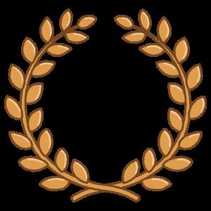 銅の月桂冠のフリーイラスト Clip art of copper laurel-wreath