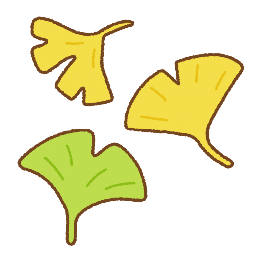 イチョウの葉のイラスト