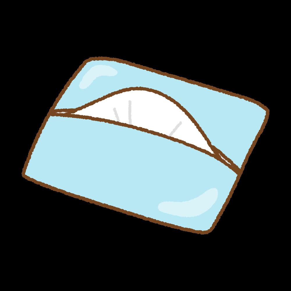 青のポケットティッシュのフリーイラスト Clip art of pocket tissue