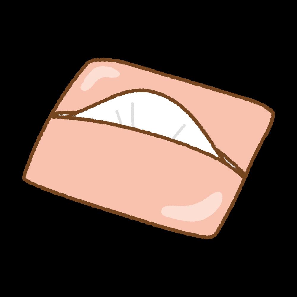 ポケットティッシュ(ピンク)のフリーイラスト Clip art of pocket-tissue