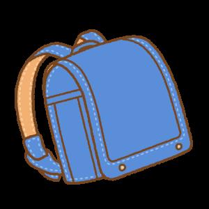 青のランドセルのフリーイラスト Clip art of blue randoseru