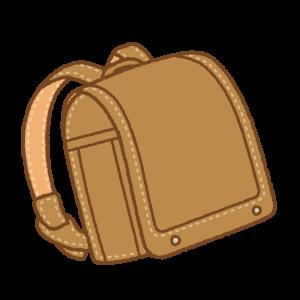 茶色のランドセルのフリーイラスト Clip art of brown randoseru