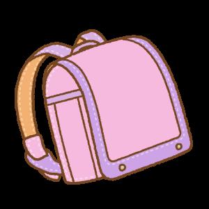 ピンクに紫のランドセルのフリーイラスト Clip art of pink & purple randoseru