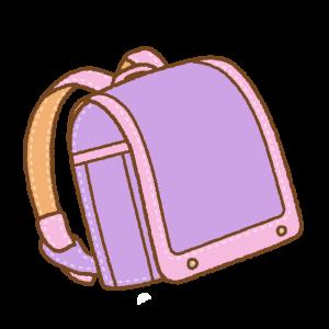 紫にピンクのランドセルのフリーイラスト Clip art of purple pink randoseru