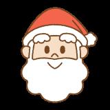 サンタクロースの顔のイラスト