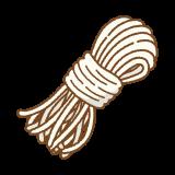 しらたきのフリーイラスト Clip art of shirataki noodle