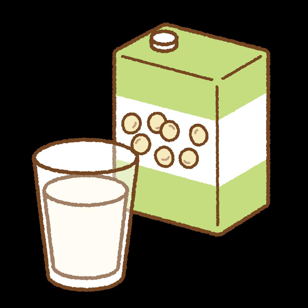 豆乳のフリーイラスト Clip art of soymilk