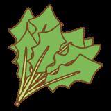 ホウレン草のフリーイラスト Clip art of spinach