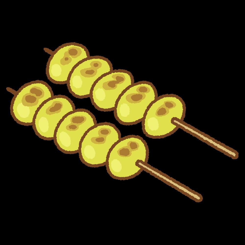 焼き銀杏のフリーイラスト Clip art of yaki-ginnan