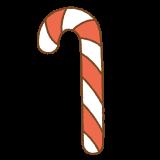 キャンディケインのフリーイラスト Clip art of candy-cane